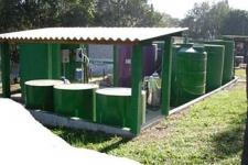 Estação de tratamento de efluente industrial compacta